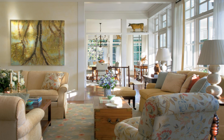 Find your style interior motives - English style interior design rigor and comfort ...